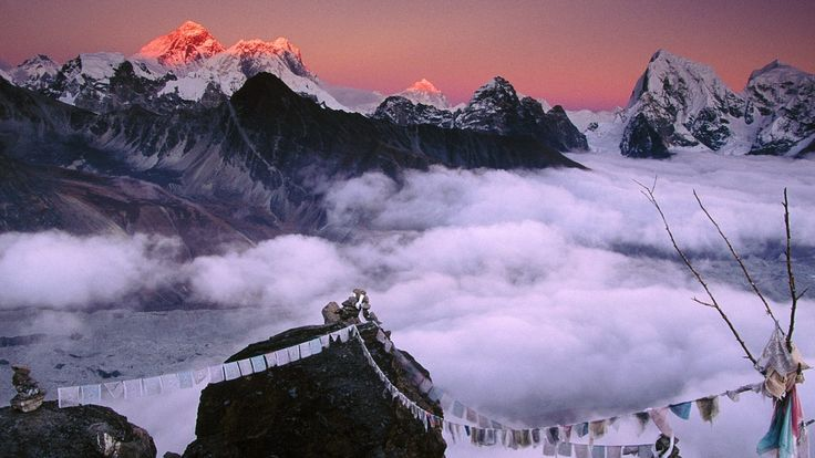 Mountains Snow Kanchenjunga Clouds Mountains Nature Peak Mountain