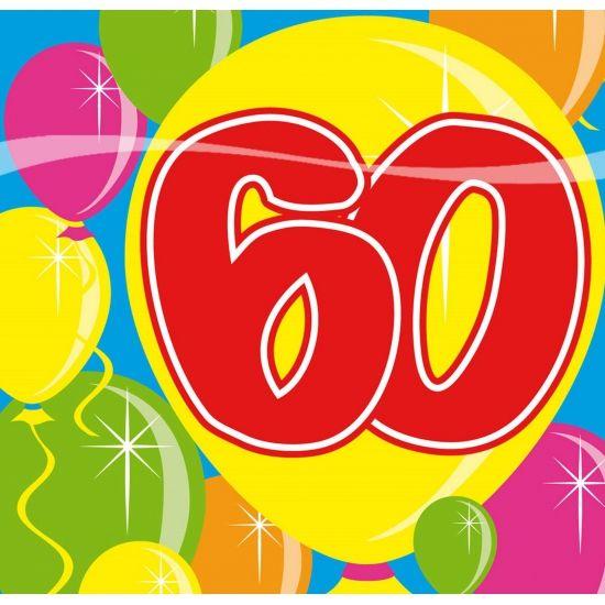 20 stuks leeftijd servetten 60 jaar. De leeftijd servetten 60 jaar zijn 3-laags en het formaat is 25 x 25 cm. 60 jaar tafeldecoraties en versiering kunt u hier ook kopen.