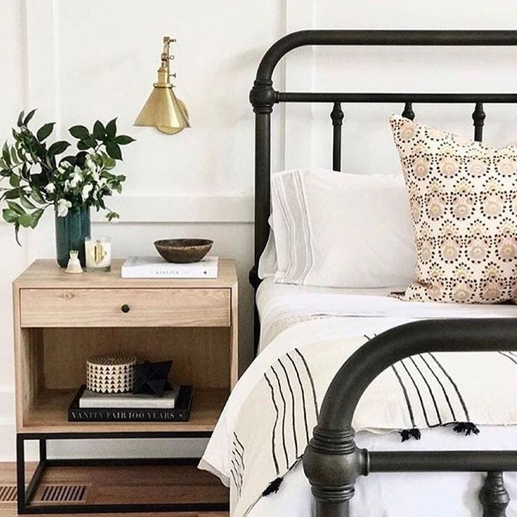 Can barely stand the design magic that happened between @studiomcgee and @mikobowen using our Colman Bed!  #bedroomdesign #friyay #mypotterybarn