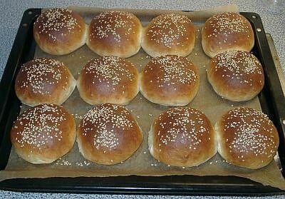 Hamburger Buns (Hamburger-Brötchen)