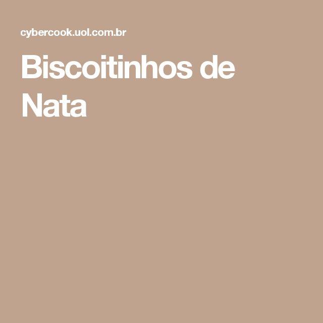 Biscoitinhos de Nata