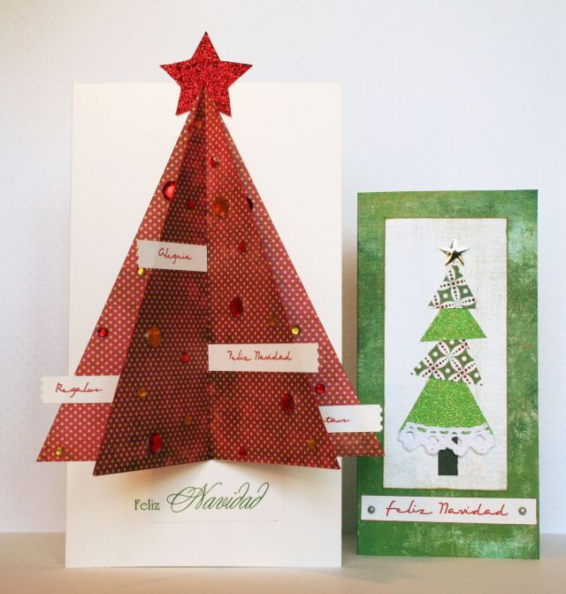 tarjetas navideñas en 3 D