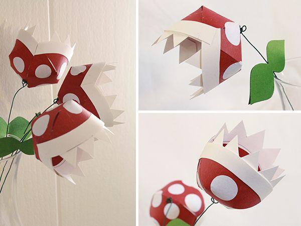 paper-piranha-plants - Red Ted Art's Blog