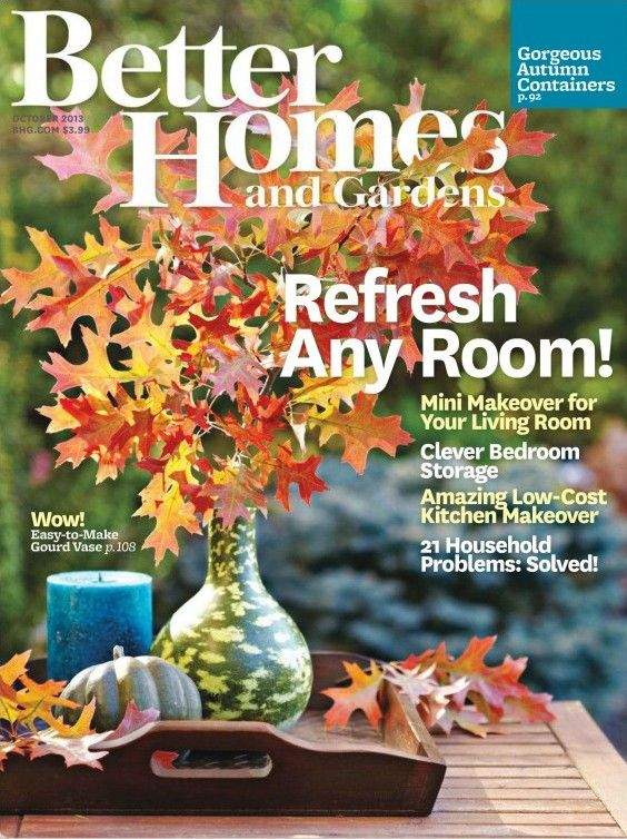 better homes and gardens october 2013 usa. Interior Design Ideas. Home Design Ideas