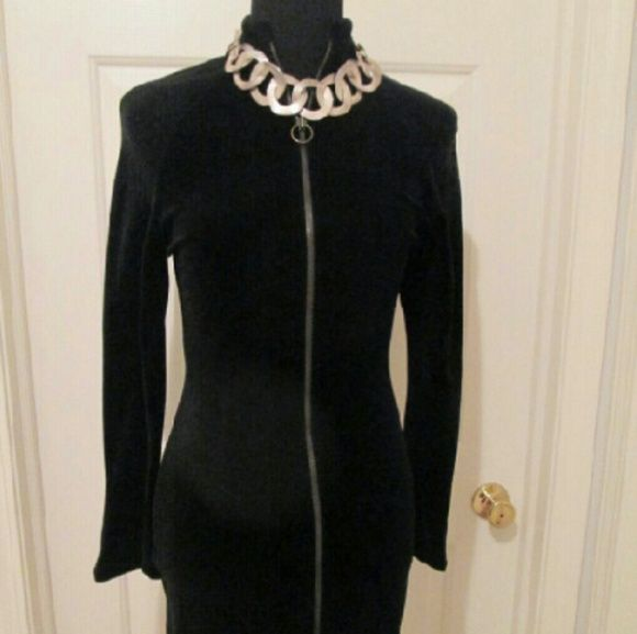 MUST SEE Velour Dress.  36' long Velour Zippered Dress. No Spandex made in Italy Carmelo Pomodoro Dresses Mini