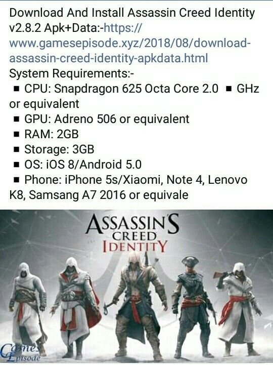 DOWNLOAD Assassin's Creed Apk Data for Android
