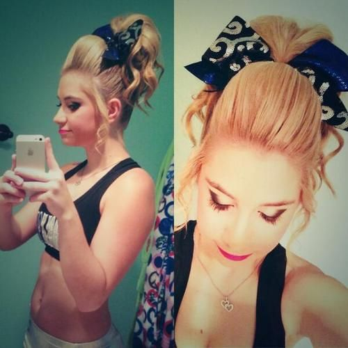 Miraculous 1000 Images About Cheer Hair On Pinterest Her Hair Poof And Cheer Short Hairstyles Gunalazisus
