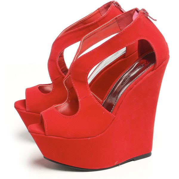 1000  ideas about Red Wedge Shoes on Pinterest | Red wedge heels ...
