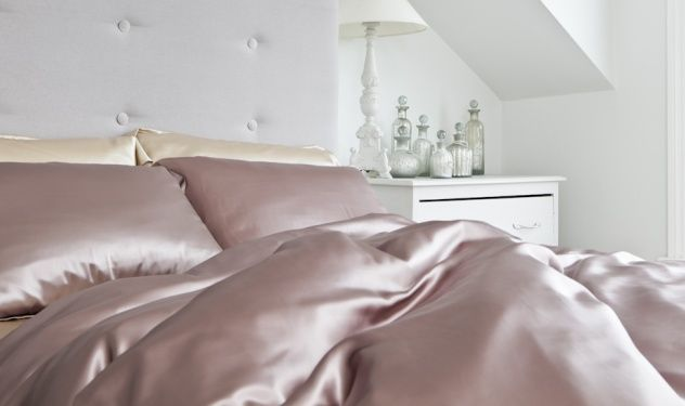 Luxury Silk Bed Linen Sets King in Dusky Pink | Silksleep