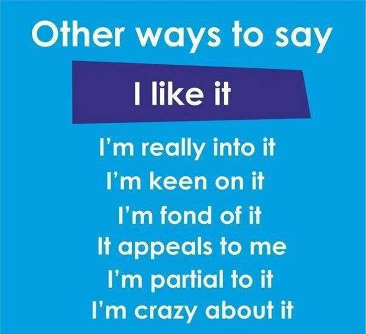 Other Ways to Say I like It #English