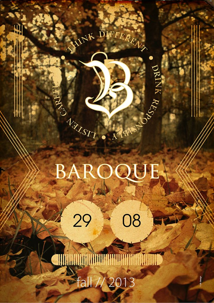 Baroque  / bar  Poster