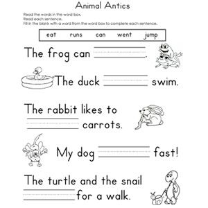 Printables Basic Reading Worksheets 1000 images about art on pinterest easter worksheets reading help your child practice his skills with these free fill in the