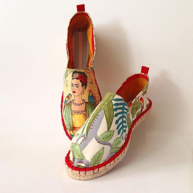 Ala y po hoy cerramos los encargos  #Frida #fridakahlo #alpargatas #espardeñas #espadrilles #handmade #diy #malasaña #design #shoe #hechoamano  #madrid