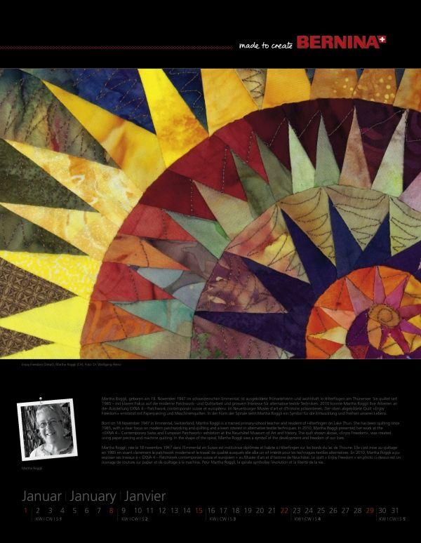 BERNINA_kalender_2012 ROGGLI. Fantastic quilts at this site. A of D.