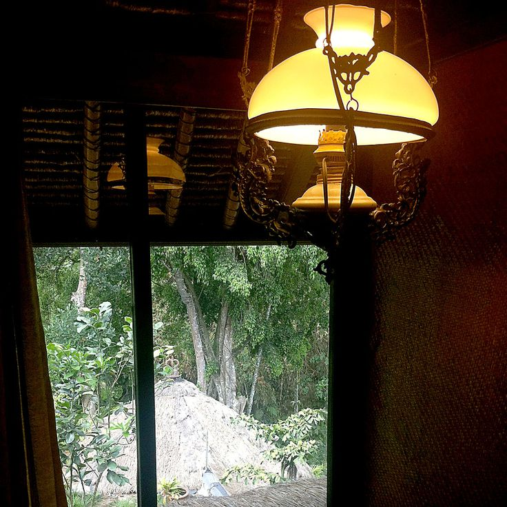 dark and light. view from the stairway in Walter Spies House