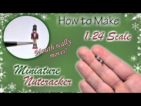 Miniature Nutcracker Soldier Christmas Tutorial | Dollhouse | How to Make 1:24 Scale DIY - YouTube