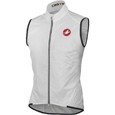 Castelli 2013 Men's Leggero Cycling Vest - C10085 (White - S) - http://ridingjerseys.com/castelli-2013-mens-leggero-cycling-vest-c10085-white-s/