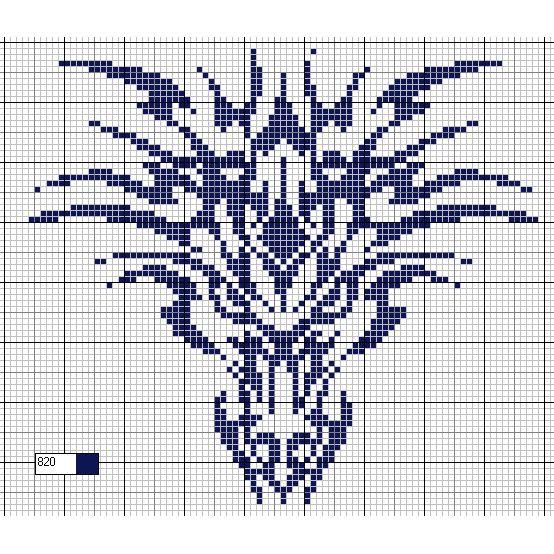 free chart dragon #crossstitch #monochrome