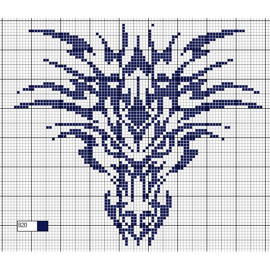 free chart dragon #crossstitch #monochrome