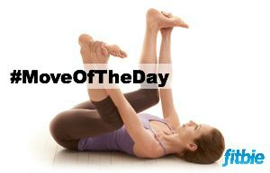 #MoveOfTheDay: Happy Baby Pose, works #hips, #innerthighs, #shoulders, and #soul | Fitbie.com