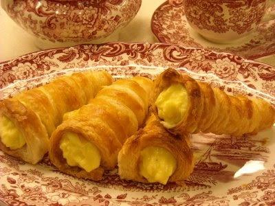 Crema pastelera y pasta de hojaldre