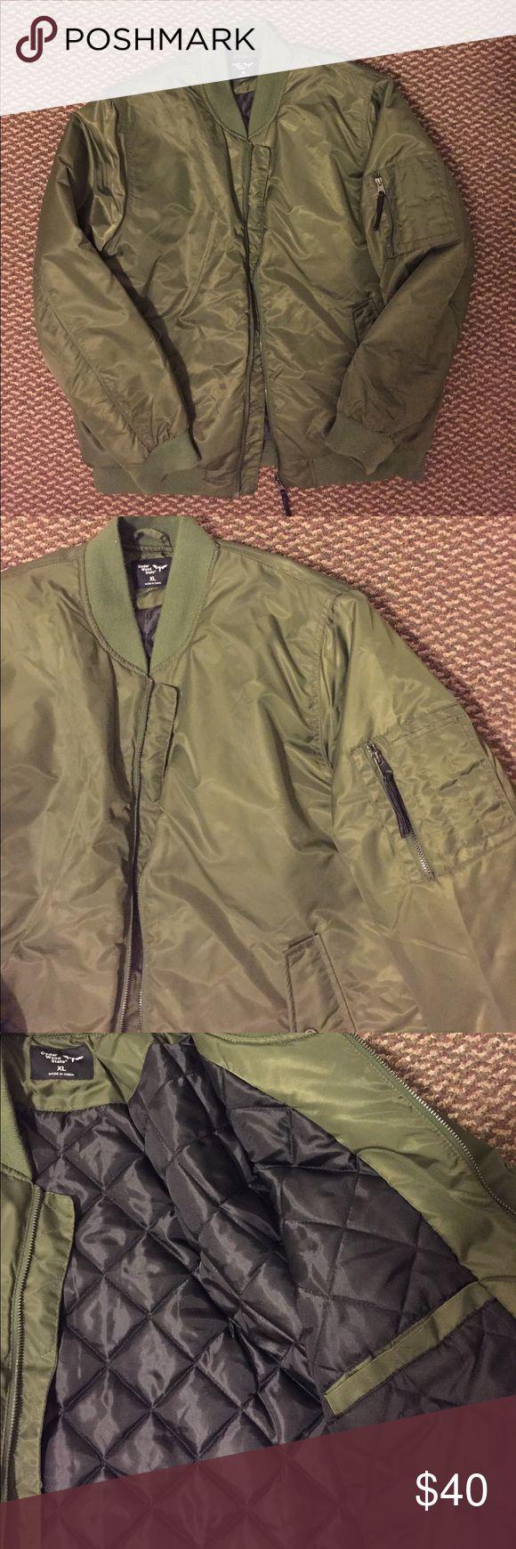 Men's Bomber Jacket XL *Army Green* NEVER WORN Army Green Bomber Jacket NEVER WORN Jackets & Coats Bomber & Varsity