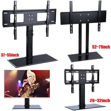 Universal Swivel TV Stand Table Top TV Stand for 26 55 Inch LCD LED TVs Height