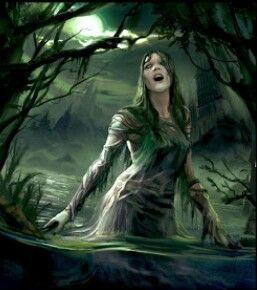 Dziwożona (or Mamuna) is a female swamp demon malicious and dangerous said to live in near rivers, streams and lakes she took the form of an ugly old woman with a hairy body, long straight hair huge boobs. she wore a red hat, fern twig attached to it. kidnaped human babies and replace them with her own children, called foundlings or changelings. A changeling often had a disability, huge abdomen, unusually sized head, hump, thin arms_ legs,hairy body, long claws prematurely cut its first…
