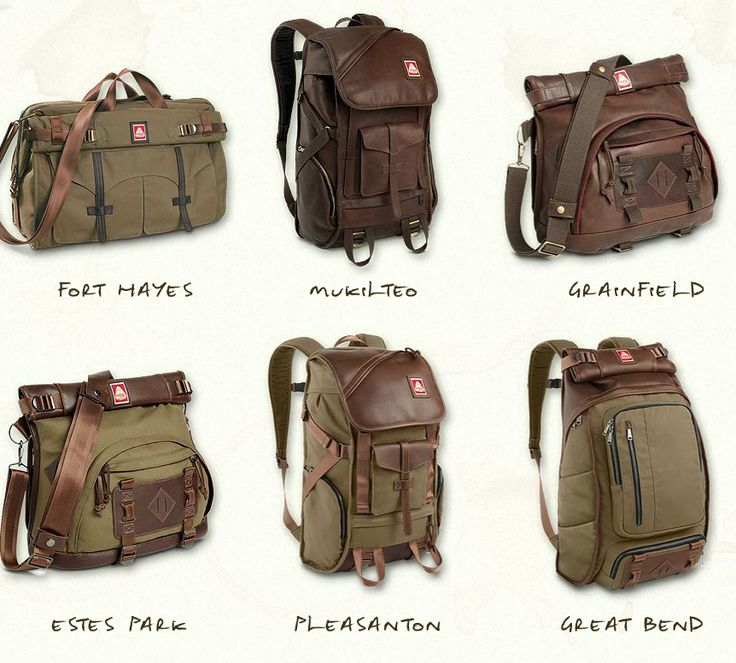 Backpacks are back, and Jansport just kicked it up a notch with Skip Yowell 2011 collection. These backpacks are vintage, practical, and will make you look like you just speared a buffalo. Backpack Bags, Leather Backpack, Leather Bag, Man Gear, Jansport, Travel Bags, Shoulder Bag, Mens Fashion, Purses