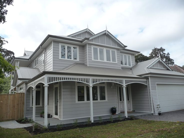Hampton Style two story James Hardie weatherboard home. Built to BAL 12.5. Colorbond roof, Sweaping Arches to verandah.