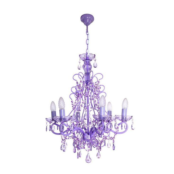 Lámparas de techo colgantes clásicas violetas | Blog Decoración NURYBA DECOR