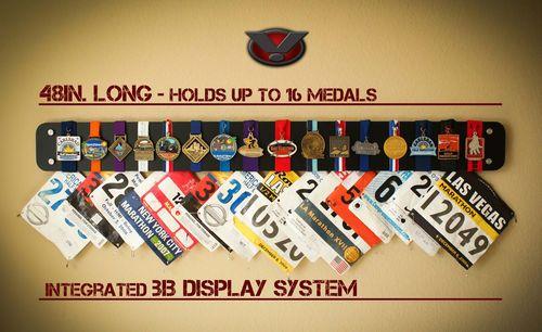 Ragnar Zombie Tough Mudder Mud Run Spartan Race Medal and Bib Display   eBay