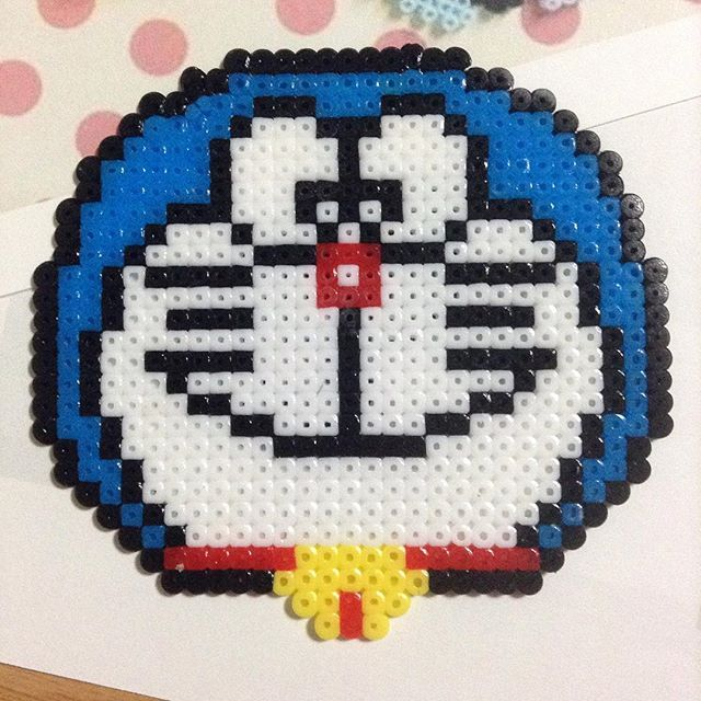 Doraemon perler beads by panemo