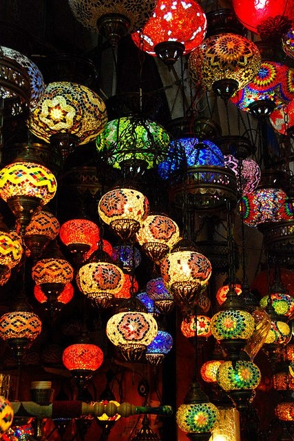 colourful lanterns
