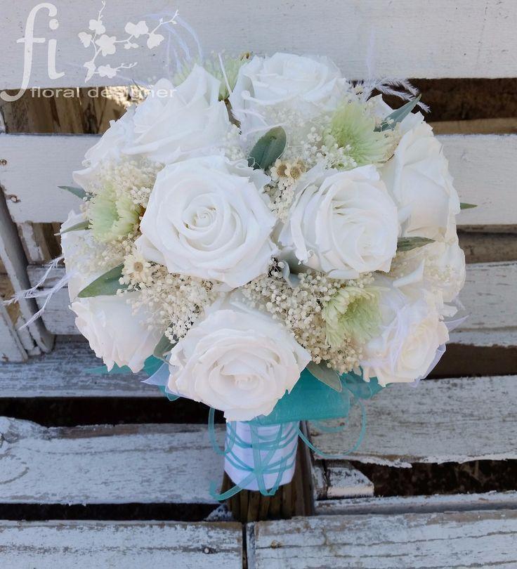 Ramo rosas rehidratadas frescura floral :: Diseñador Floral > Ramos Rehidratados para Novia