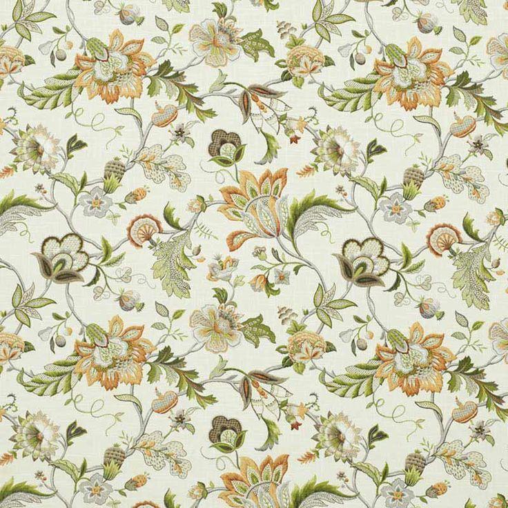 Warwick Fabrics : MALMSBURY, Colour SUNSHINE