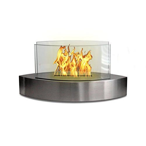 Lexington Elliptical Tabletop Fireplace - Stainless Steel