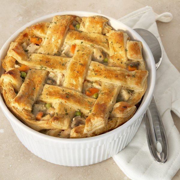 A light and flaky puff pastry crust is what makes this pot pie the ultimate…