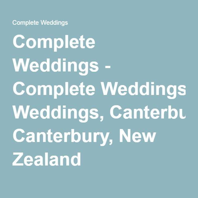 Complete Weddings - Complete Weddings, Canterbury, New Zealand