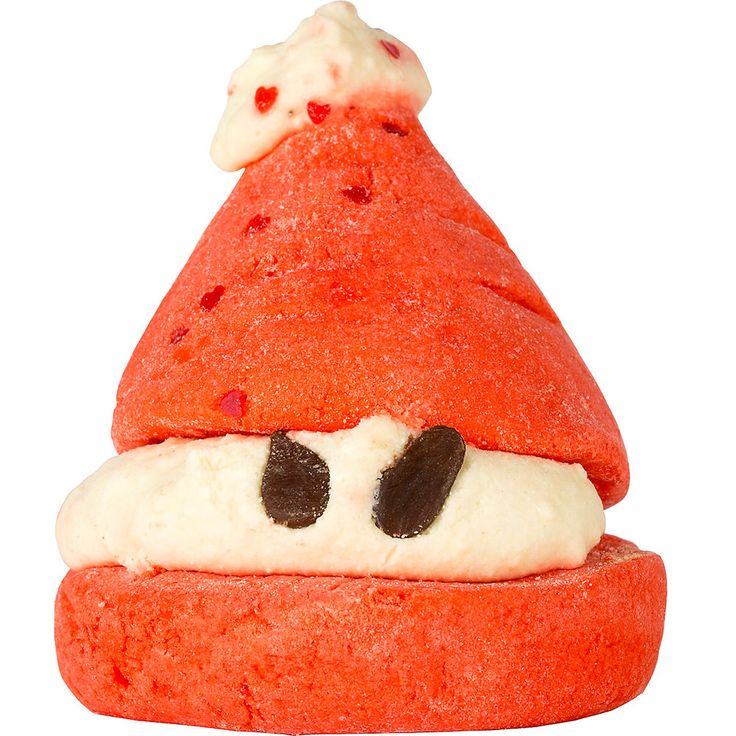 Peeping Santa bubble bar. Look lively! Santa's always watching with his dairy free chocolate drop eyes, waiting for his batch of hand-churned shea butter from the Ojoba women's cooperative in Ghana to be ready. When the festive season comes round, it's blended with Fair Trade Organic Cocoa butter to make the filling between Santa's sandwich of strawberry-sweet bergamot and geranium oils. Crumble under the running water for sack loads of fruity bubbles.