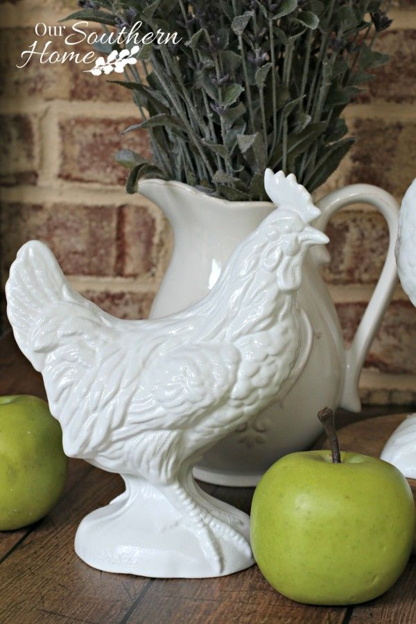 thrift store rooster makeover by our southern home 5