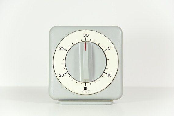 Industrial Kitchen Timer Vintage Junghans Germany Grey White Red Large. €45.00, via Etsy.