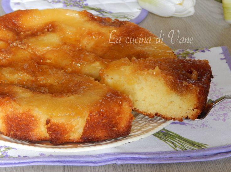 Torta rovesciata ananas e yogurt