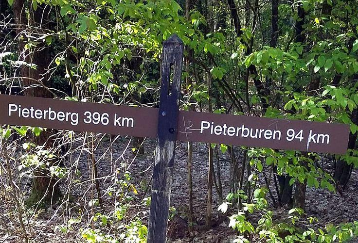 De St. Pietersberg komt langzaam dichterbij. Gisteren wandelde John 42 km. van naar Coevorden. Vandaag een korte etappe naar Hardenberg.