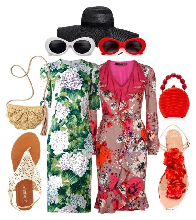 Flower power by illetilmote on Polyvore featuring Dolce&Gabbana, Roberto Cavalli, Charlotte Olympia, Olivia Miller, Nancy Gonzalez, Mar y Sol and Boohoo