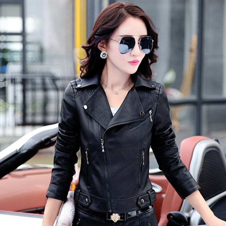 Buy US $32.75  2017 spring and autumn clothes short paragraph female leather clothing self-cultivation motorcycle clothing leather jacket women  . Available latest products: Black Leather Clothes.