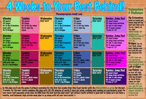 10 Workout Calendars to Follow this Month | Pinterest