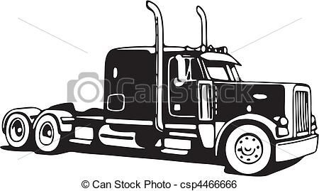 18 Wheeler Drawings