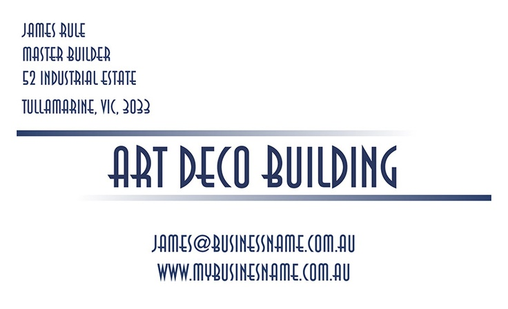Business Cards — Cardsandinvites - Art Deco