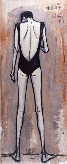 #ARTIST Bernard Buffet - Annabel de dos en maillot de bain (1960) | Available for Sale | Artsy